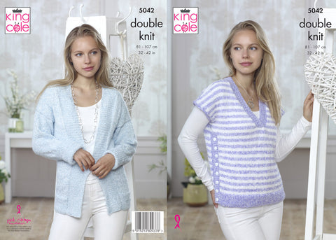 Sweater & Cardigan in King Cole Calypso DK (5042)