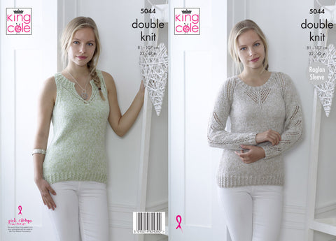 Sweater & Top in King Cole Calypso DK (5044K)