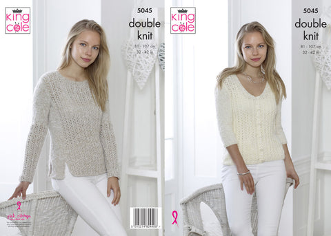 Sweater & Cardigan in King Cole Calypso DK (5045)