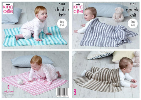 Babies Blanket in King Cole Cottonsoft Baby Crush DK (5101)
