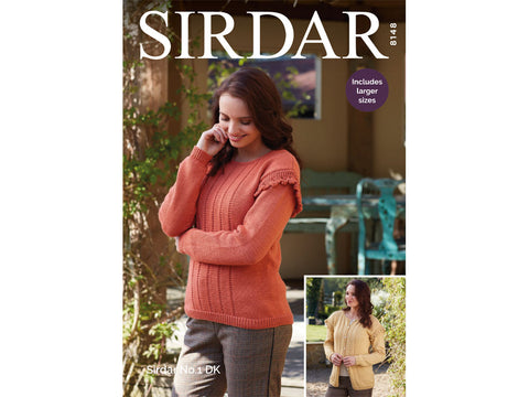 Sweater and Cardigan in Sirdar No.1 (8148)