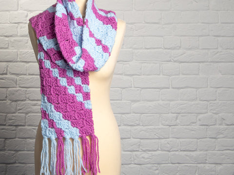 Comfort C2C Scarf Crochet Kit and Pattern in King Cole Yarn