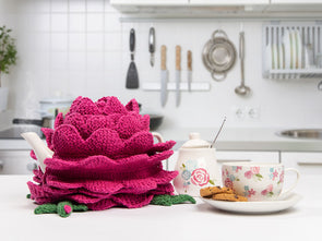 Rosy Lee Tea Cosy by Charmaine Fletcher in Patons Smoothie DK
