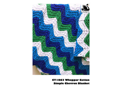 Simple Chevron Blankets in Cygnet Yarns Whopper Cotton