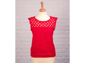 Ladies Sleeveless Top by Sarah Murray in Deramores Studio DK