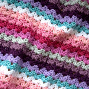Ric Rac Blanket - Deramores Studio DK - Princess Yarn Pack - Inc Pattern