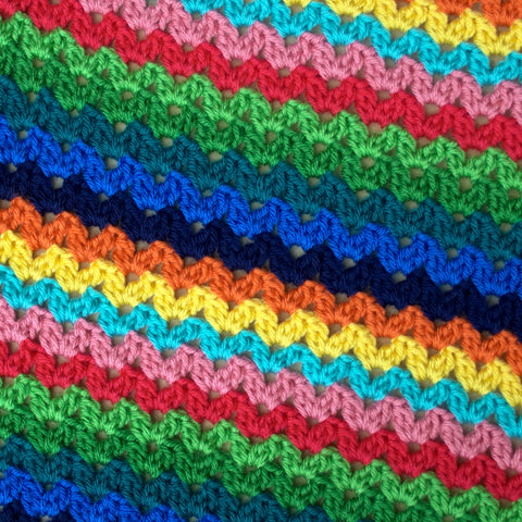 Ric Rac Blanket - Deramores Studio DK - Tropical Yarn Pack - Inc Pattern