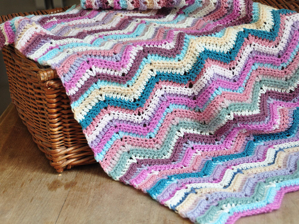Ripple Stitch Blanket By Hanjan Crochet Deramores