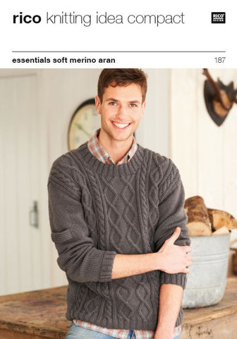 Round & Wrap Neck Sweaters in Rico Essentials Soft Merino Aran - 187 - Digital Version