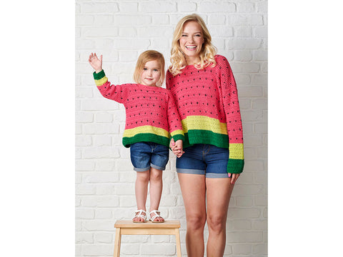 Simply Crochet Watermelon Jumper Colour Pack in Rico Design Creative Cotton Aran