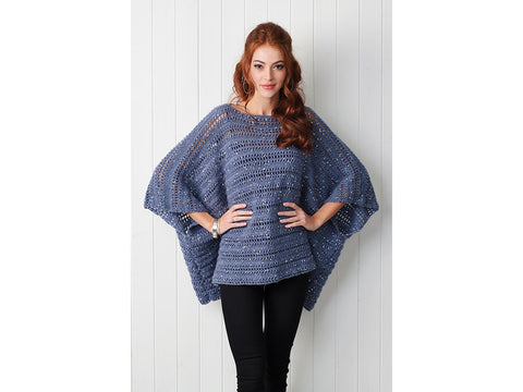 Simply Crochet Sparkle Poncho in King Cole Galaxy DK