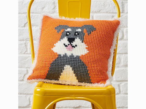 Simply Crochet Schnauzer Cushion in Stylecraft Special Aran