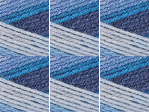 Stylecraft Wondersoft Merry Go Round DK - 6 Ball Value Pack - Blue Denim