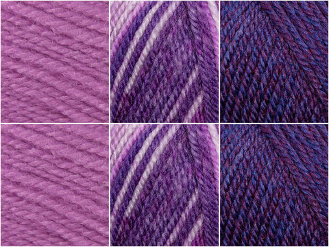 Stylecraft Life DK & Life Changes DK Plums Colour Pack