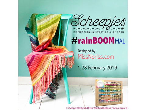 RainBOOM MAL by MissNeriss in Scheepjes Stone Washed & River Washed