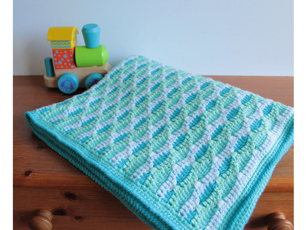 Sea Ripple Baby Blanket By Veronika Cromwell In Deramores Studio Baby