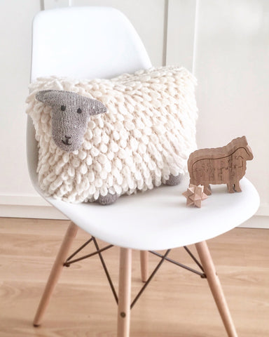 Sheep Cushion by Julia Marsh in Rowan Big Wool