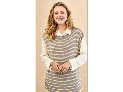 Let's Knit Simple Stripy Tunic in Sirdar Snuggly Baby Bamboo DK