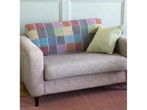 Simply Stripes Blanket & Cushion by Martin Storey in Rowan Felted Tweed DK