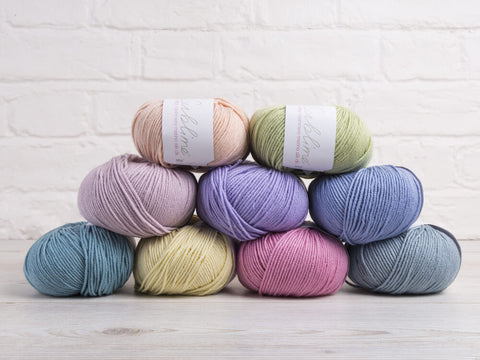 Sublime Baby Cashmere Merino Silk Pretty Pastels Colour Pack
