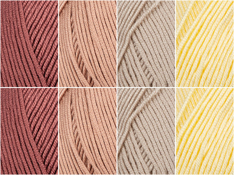 Smooth as Butter Colour Pack in Rico Design Creative Silky Touch DK