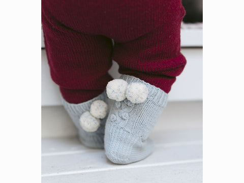 Snowberry Socks For Babies in Novita Baby Merino and Baby Merino Dream Knitting Kit and pattern