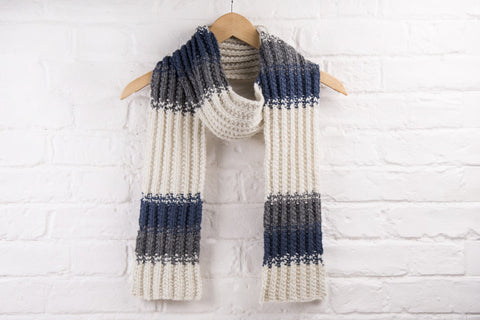 Speckled Mistake Rib Scarf by Vickie Howell for Deramores - Digital Product