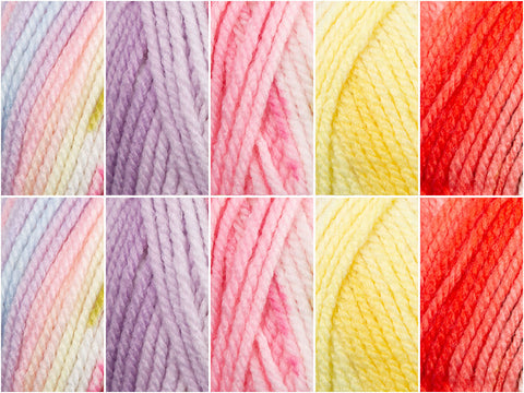 Spring Bouquet Colour Pack in Hayfield Baby Blossom Chunky