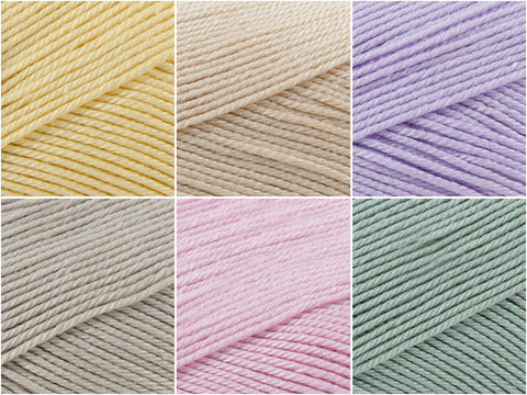 Spring Clouds Colour Pack in Patons 100% Cotton 4Ply