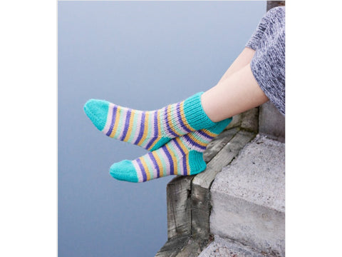 Springtime Hug Socks Knitting Kit and Pattern in Novita Yarn