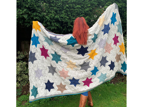Star Blazer Blanket by Annette Buckley in Scheepjes Cahlista
