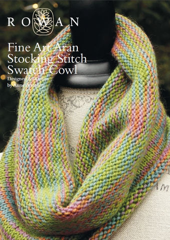 Fine Art Aran Stocking Stitch Swatch Cowl-Deramores