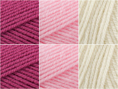 Patons Fab DK Strawberries & Cream Colour Pack