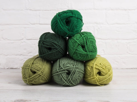 Stylecraft Special DK Green Party Colour Pack