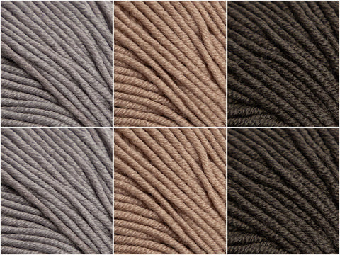 Caramel Mocha Colour Pack in Sublime Extra Fine Merino Wool DK