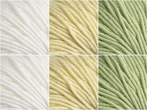 Lemon & Lime Meringue Tart Colour Pack in Sublime Baby Cashmere Merino Silk DK