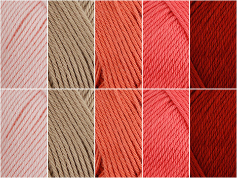 Rowan Summerlite 4 Ply Coral Blush Colour Pack