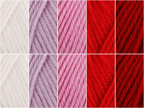 Garden Roses Colour Pack in Cygnet Yarns Pure Wool Superwash DK