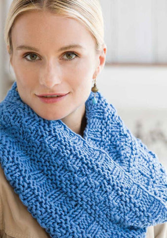 Textured Cowl in Deramores Studio Chunky by Cheryl Murray
