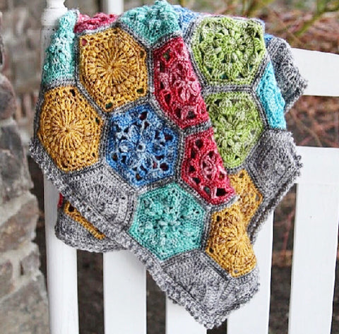 Tiny Garden Blanket by Cypress Textiles in Scheepjes Spirit