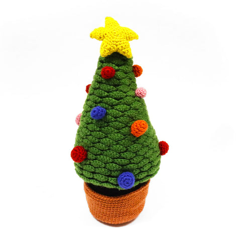 Desk Christmas Tree Crochet Kit and Pattern in Deramores Yarn