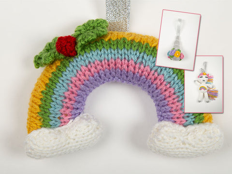 Unicorn & Rainbow Decorations by Nicola Valiji in Deramores Studio DK