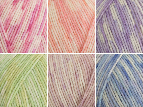 West Yorkshire Spinners Signature 4 Ply The Florist Prints Colour Pack