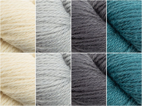 West Yorkshire Spinners The Croft Shetland Colours Winter Sky Colour Pack by Maria Bittner