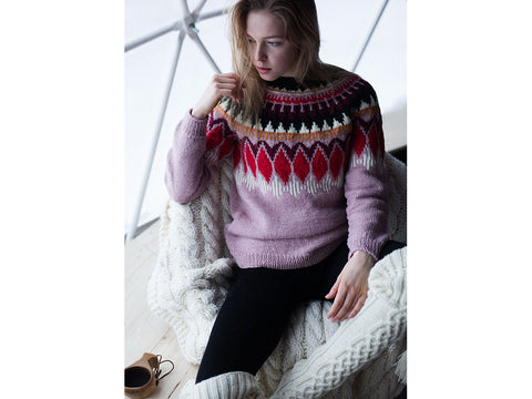 Women's Yoke Sweater in Novita 7 Veljestä & Nordic Wool