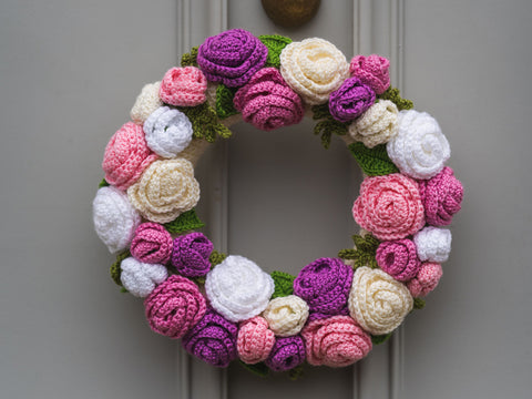 Spring Flower Wreath Crochet Kit and Pattern
