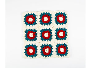 Sunburst Granny Squares Cushion Crochet Kit and Pattern