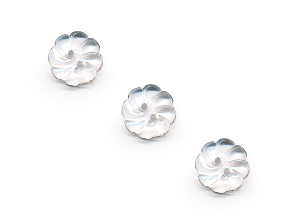 Flower Buttons - Clear - 068-Deramores