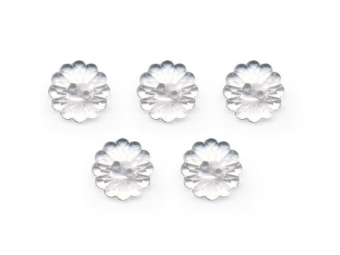 Flower Buttons - Clear - 069-Deramores