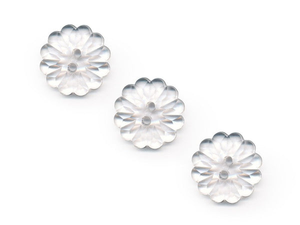 Flower Buttons - Clear - 070-Deramores